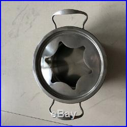 10XMultifunctional Stainless Steel Ice Cream Chocolate Cheese Hot Pot Furnace