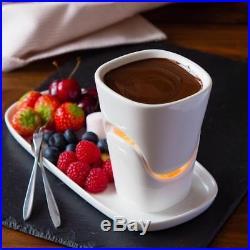 120ml Ceramic Chocolate Fondue Set Ice Cream Pot Set Cheese Kitchen Supplies