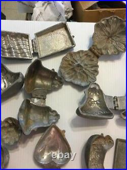 15 Antique Ice Cream Molds Chicken American Flag Angels Cards Ect Candy Molds