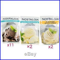 (15) Nostalgia Ice Cream Mix lot-11 Choc- 2 Vanilla Creme-2 Sugar Free VanilIa