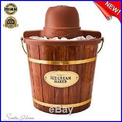 1980 Homemade Ice Cream Machine 2/4 Qt Vintage Wood Bucket Elegant Party Decor