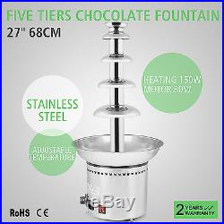 27 5 Tiers Chocolate Fountain Wedding Gift Ice Cream Occasion Special Buy