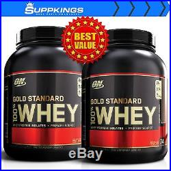 2 X Optimum Nutrition Gold Standard 100% Whey 5lb Protein Blend Isolate