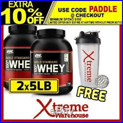 2x Optimum Nutrition 100% Whey 5lb Gold Standard Wpi Wpc On Protein #total 10lb