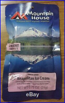 37pc Astronaut Neapolitan Ice Cream space food strawberry/vanilla/chocolate