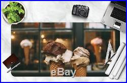 3D Chocolate Ice Cream 19 Non-slip Office Desk Mouse Mat Large Keyboard Pad Game