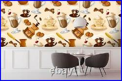 3D Chocolate Ice Cream 5648NA Wallpaper Wall Mural Removable Self-adhesive Fay