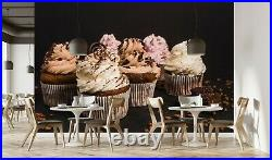 3D Chocolate Ice Cream Cake 1793NA Wallpaper Wall Murals Removable Wallpaper Fay