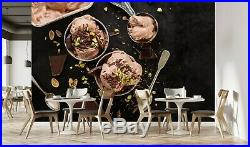 3D Chocolate Ice Cream ZHUA568 Wallpaper Wall Murals Removable Self-adhesive Amy
