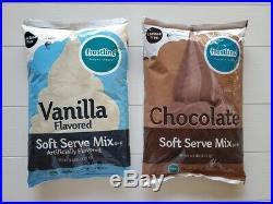 (3) 6 lbs Frostline Vanilla Soft Serve Ice Cream Mix + (2) Chocolate Total Of 5