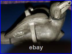 3 Piece Banquet Size American Eagle Pewter Ice Cream Mold C. C. Brevete