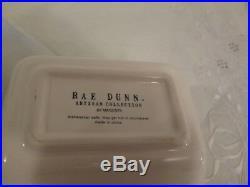 3 Piece Set Rae Dunn Ice Cream Cone Mugs Double Bowl Server Mint Chocolate Chip