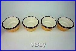 4 Oneida Kitchen Ice Cream Sundae Bowls Cone Chocolate Sprinkles NEW