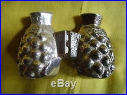 5 Antique Pewter Pineapple Shaped Ice Cream/Chocolate Molds France