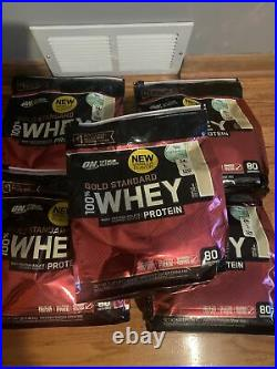 5 BAGS Whey Protein Vanilla Ice Cream Gold Standard 80 Servings 27.5 lbs
