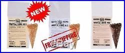5 Lb Bakery Ice Cream Restaurant Vanilla Chocolate Waffle Cone Mix, 6 Bags/Case
