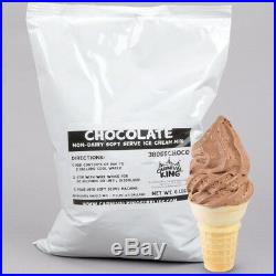6X 6 Lb (36 Lb) Non-Dairy Chocolate Soft Serve Mix Machine Ice Cream Bag Case