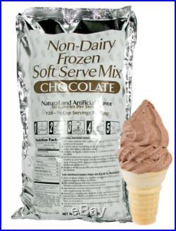 6 Case 6 Lb Non Dairy Soft Serve Ice Cream Mix Chocolate Flavor Bars Buffet
