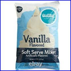 6 Pack 6 lb. Rich Creamy Vanilla Soft Serve Ice Cream Mix Commercial Restaurant