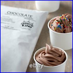 6 lb. Non-dairy Chocolate Soft Serve Mix Machine Ice Cream Mix 6/Case