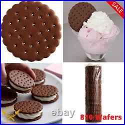 (810 Wafers) Ice Cream Sandwich Wafers Ice Cream Cones Chocolate Wafers Pantry