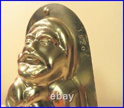 9.5 Vintage Metal Santa Clause Father Christmas Chocolate Ice Cream Mold 15203