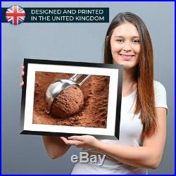 A3 Chocolate Ice Cream Scoop Treat Framed Print 42X29.7cm #44591
