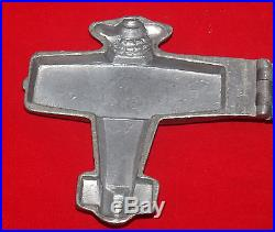 Antique E & Co Pewter Figural Ice Cream Or Chocolate Food Mold Airplane 1132