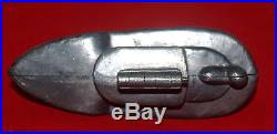 Antique E & Co Pewter Figural Ice Cream Or Chocolate Mold Boat Ship 986