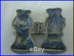 ANTIQUE PEWTER RARE FROG CHOCOLATE/ICE CREAM MOLD 4 1/2X 21/2 HW or MH