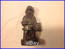 ANTIQUE/VINTAGE Pewter S&C Co. #320 Soldier Shaped Ice Cream/Chocolate Mold