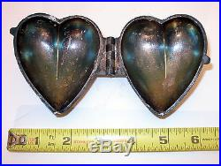 ANTIQUE/VINTAGE S & Co #475 PEWTER ICE CREAM/CHOCOLATE MOLD VALENTINES DAY HEART