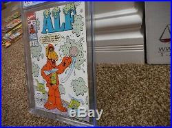 Alf 36 cgc 9.8 Marvel 1990 MINT chocolate chip ice cream cover WHITE pgs TV show
