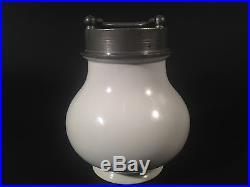 Antique 1920's european porcelain patisserie chocolate ice cream cooler jar