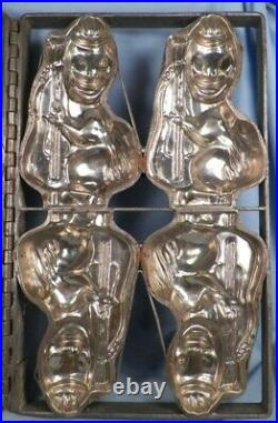 Antique 4 Ducks Playing Bass Fiddles Candy Mold Ice Cream String Chocolate As Is