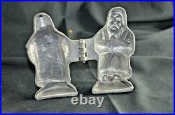 Antique CHOCOLATE ICE CREAM MOLD Santa, St Nicholas, Heavy Eppelsheimer & Co