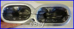 Antique Chocolate Candy and Ice Cream Mold 2 BUNNIES together RARE Germany No. 40