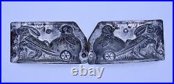 Antique Chocolate Ice Cream Mold Detail Rabbit Pulling Chick in Egg Cart Germany