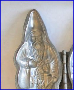 Antique Chocolate Mold Santa Vintage Metal Candy Molds Rare Old Ice Cream Mould