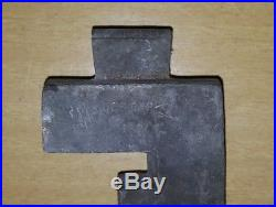 Antique E&Co NY Letter F Name Initial Vtg Pewter Candy Chocolate Ice Cream Mold