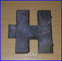 Antique E&Co NY Letter H Name Initial Vtg Pewter Candy Chocolate Ice Cream Mold
