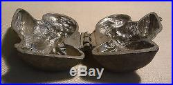 Antique E & Co. Pewter Turkey Mold Figural Ice Cream Chocolate Butter Heavy