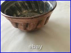 Antique FRENCH TIN LINED COPPER MOLD Pastry, Chocolate, Ice cream jelly