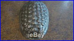 Antique German Tin Chocolate Jello or Ice Cream Pine Cone Mold NICE