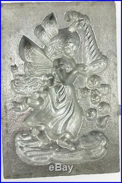 Antique Krauss #522 Pewter Ice Cream Chocolate Mold Angel With Horn of Plenty