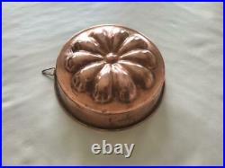 Antique Large FRENCH TIN LINED COPPER MOLD Pastry, Chocolate, Ice cream