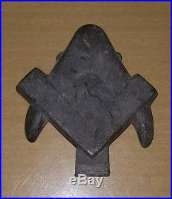 Antique Masonic Free Mason Compass Vintage Pewter Candy Chocolate Ice Cream Mold