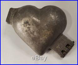 Antique Mold Victorian Cupid Heart Ice Cream Chocolate Hinged Cast Pewter