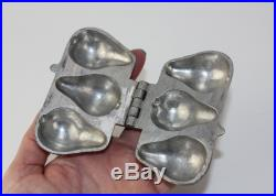 Antique Pewter 3 Pear Chocolate Butter Ice Cream Mold Mould E & Co Eppelsheimer