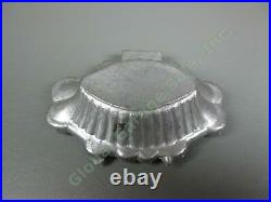 Antique Pewter Ice Cream Chocolate Mold #203 Floral Basket Tart Shell E&Co NY NR